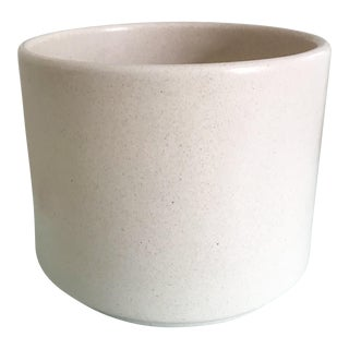 1960s Vintage Cream Speckled Gainey Planter Pot For Sale