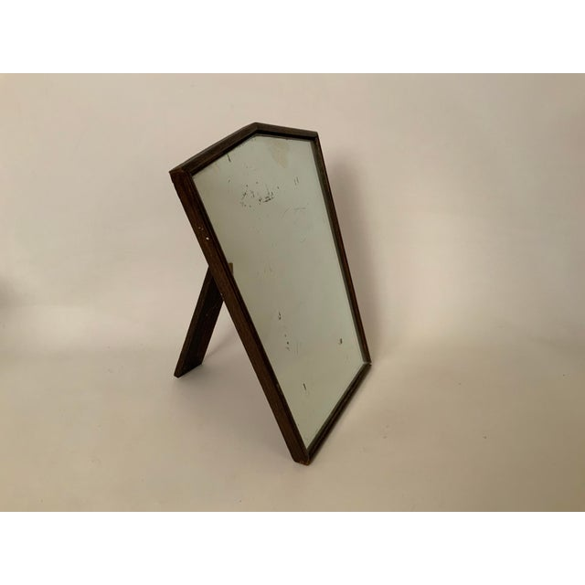 Art Deco 1930s Oak English Art Deco Table Top Mirror For Sale - Image 3 of 10