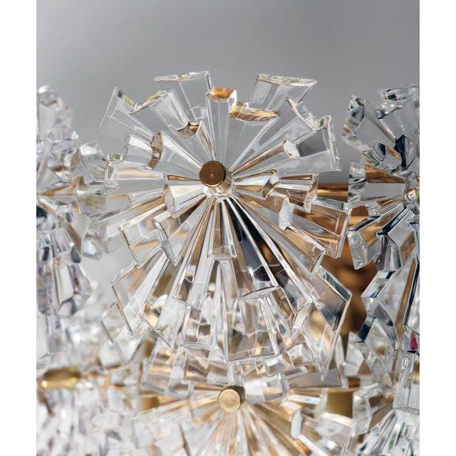 Kinkeldey 1970s Germany Kinkeldey Starburst Wall Sconces Crystals on Gilt-Brass - a Pair For Sale - Image 4 of 13