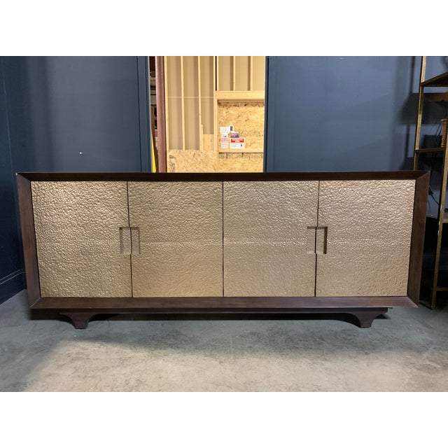 Metal Worlds Away Wood & Metal Sideboard For Sale - Image 7 of 7