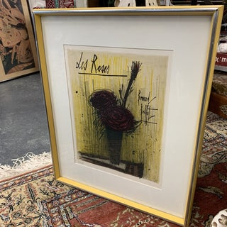 """""""Des Roses"""" Authenticated Lithograph Print Signed by Bernard Buffet For Sale"""