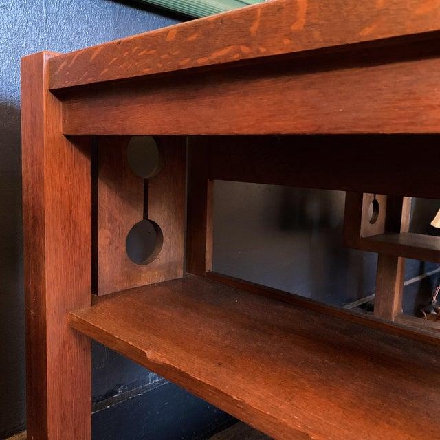 1930s Wood Craftsman Desk For Sale - Image 4 of 9