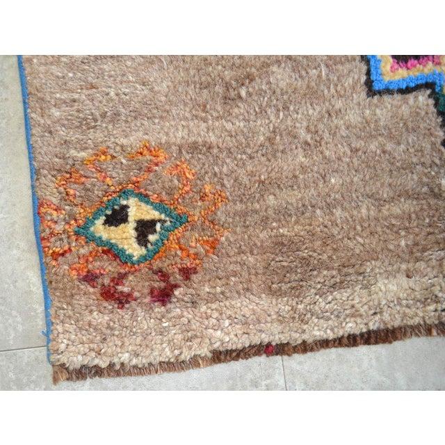Black Hand Knotted Natural Colors Full Tribal Design Runner Rug Wide Runner - 3′6″ X 11′4″ For Sale - Image 8 of 11