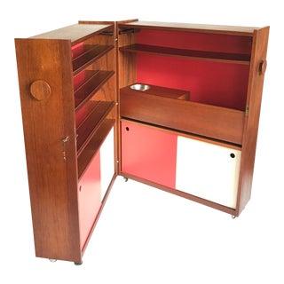 1960s Mid Century Modern Danish Erik Buch Folding Bar For Sale