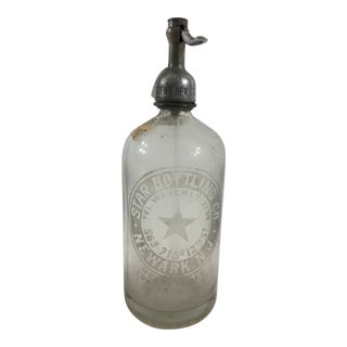 Vintage Star Bottling Company Seltzer Bottle