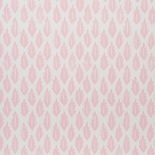 Sample - Schumacher x Molly Mahon Leaf Wallpaper in Pink For Sale