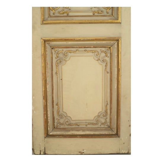 Set of Eight Louis XV Style Parcel-Gilt Doors With Ormolu Finishes For Sale - Image 4 of 7