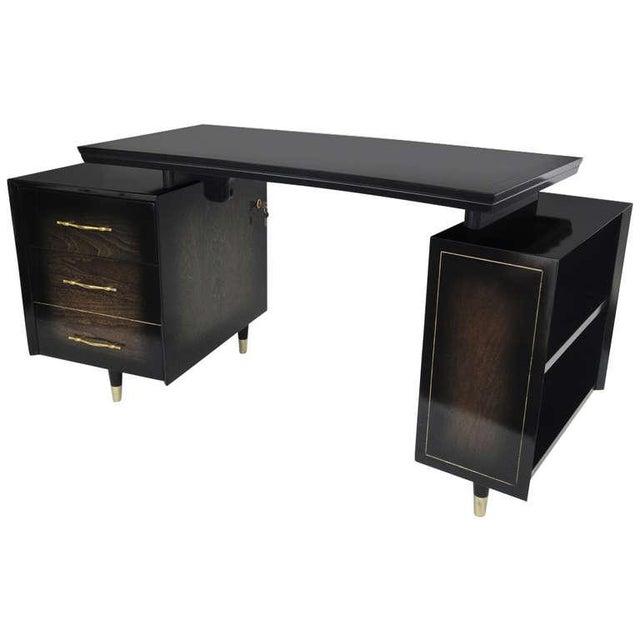 1960s Mid Century Modern Curved Partner Desk For Sale - Image 11 of 11