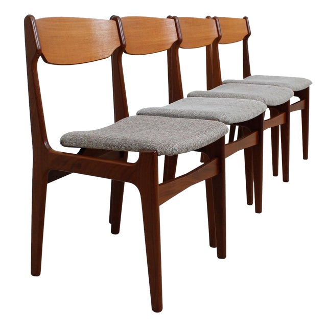 Danish Teak Dining Chairs - Set of 4 - Image 1 of 10
