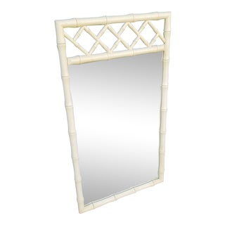 Vintage Dixie Faux Bamboo Mirror With Fretwork For Sale