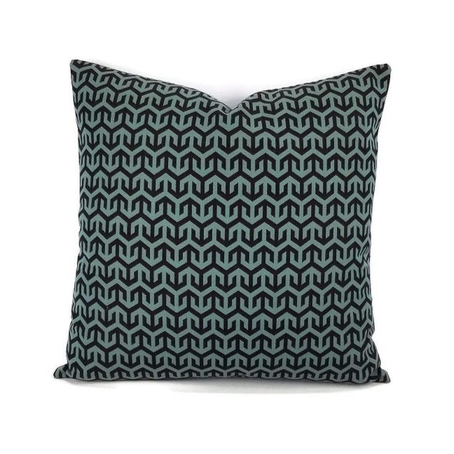 Fabric Holly Hunt Anchors Aweigh Turqs and Caicos Accent Pillow Cover For Sale - Image 7 of 7