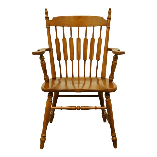 Tell City Maple Colonial Cattail Back Arm Chair For Sale