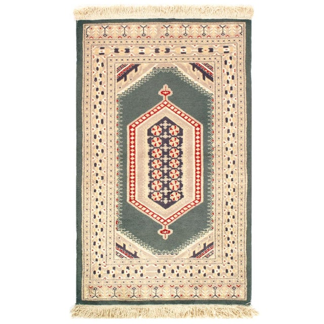Pasargad Fine Pak Bokhara Hand-Knotted Rug - 2′8″ × 4′4″ For Sale - Image 4 of 4