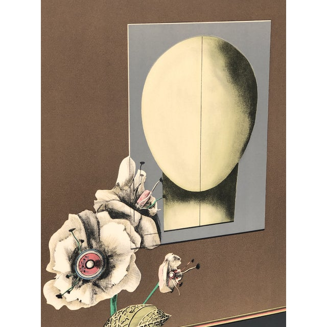 1960s Vintage Andres Segovia Abstract Surrealist Signed Lithograph Print For Sale - Image 4 of 10