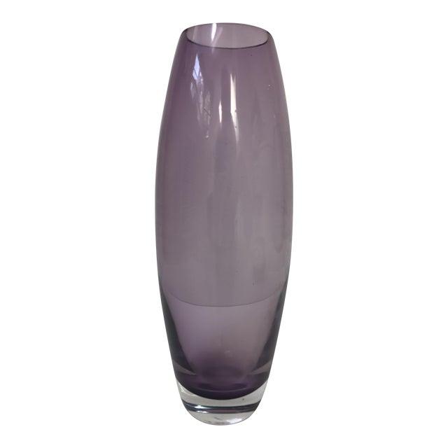 Purple Glass Bullet Vase Chairish