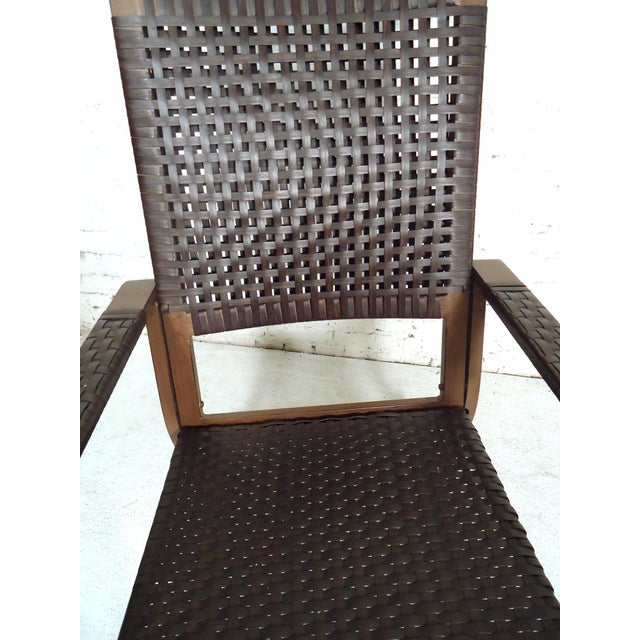 Brown Mid Century Modern Style Rocker For Sale - Image 8 of 10