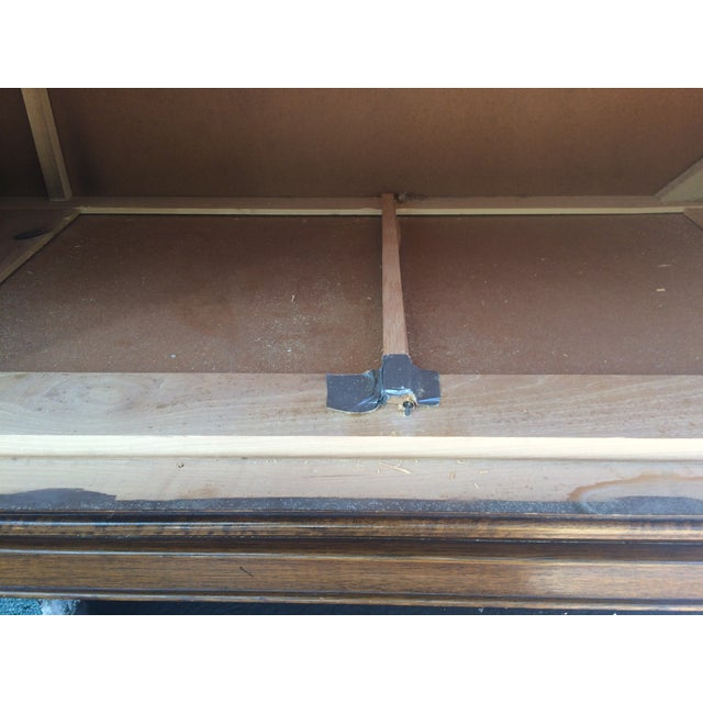 Vintage Herringbone Thomasville Credenza/Dresser For Sale - Image 9 of 11
