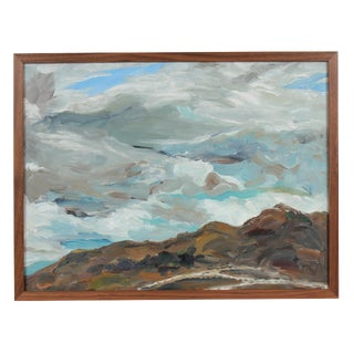 """Big Sky"" Cloudy Bay Area Landscape in Oil, 1999"