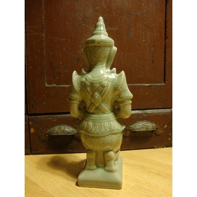 Celadon Thai Kneeling Buddha For Sale In New York - Image 6 of 6