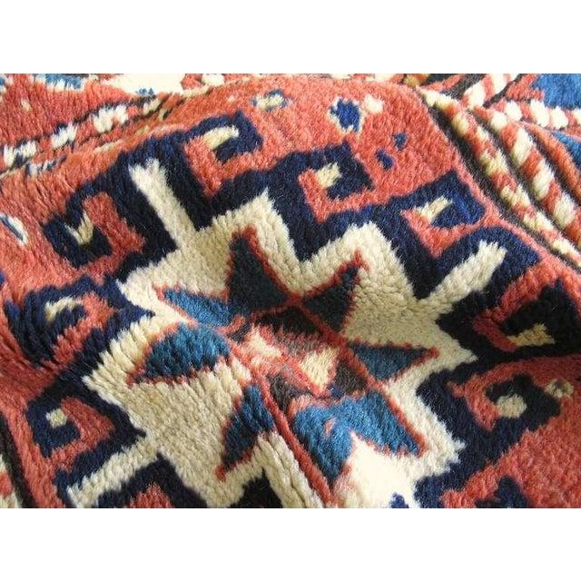 Blue Caucasian Kazak Rug For Sale - Image 8 of 8