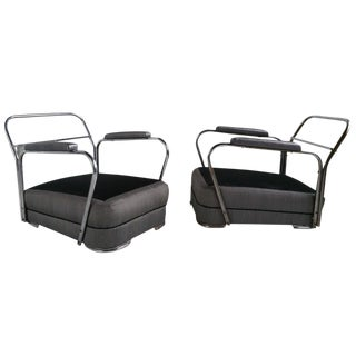 Art Deco Lounge Chairs C.1930s Modernist - a Pair For Sale