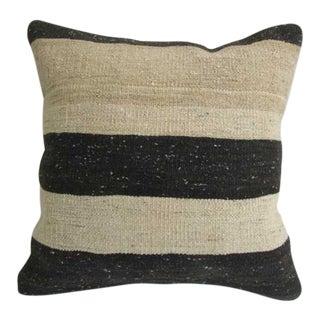 Vintage Kilim Rug Striped Pillow For Sale