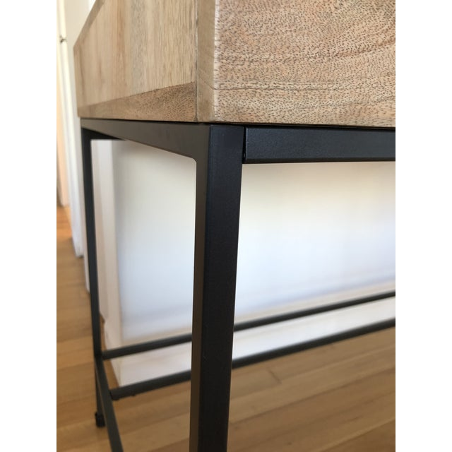 Brown West Elm Industrial Storage Desk For Sale - Image 8 of 9