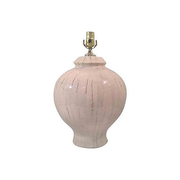 White Ceramic Lamp With Craqueleur Finish - Image 2 of 4