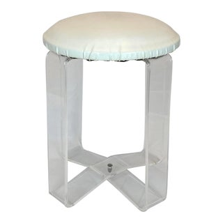 Mid Century Modern Lucite Vanity Stool For Sale
