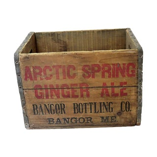 1930s Vintage Ginger Ale Bottle Shipping Crate