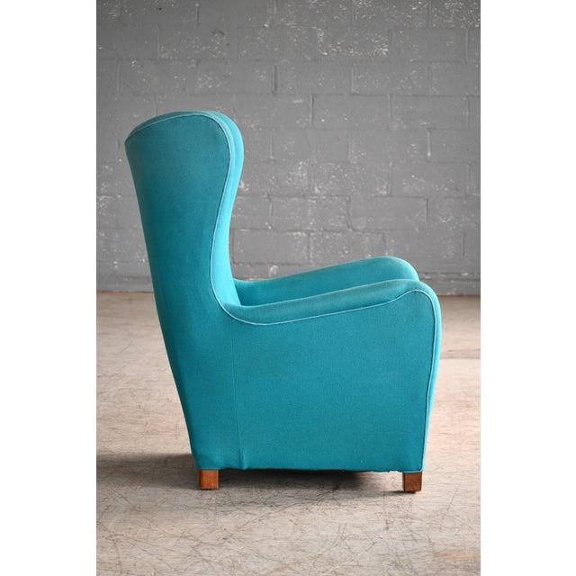 Fritz Hansen Model 1672 High Back Lounge Chair Danish Mid-Century, 1940s For Sale In New York - Image 6 of 11