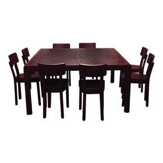 Gervasoni Otto Walnut, Bamboo Table & 8 Chairs