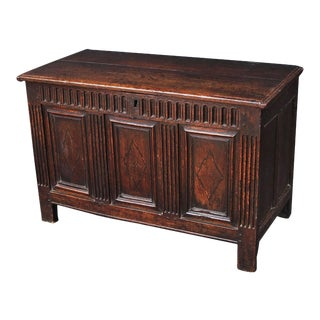 17th Century English Joined Chest or Coffer For Sale