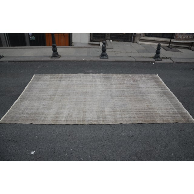Islamic Tribal Turkish Antique Wool Floor Rug - 5′6″ × 9′5″ For Sale - Image 3 of 7