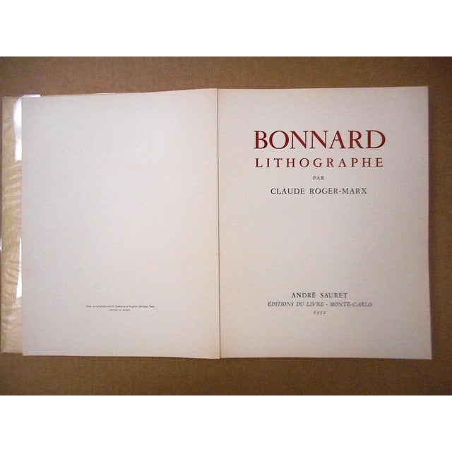 Bonnard Lithographie Bonnard, Pierre Published by Andre Sauret (1952) First Edition Soft cover. Condition: Very good. 1st...