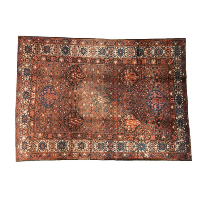 """Vintage Baktiari Carpet - 7'1"""" X 9'11"""" For Sale"""