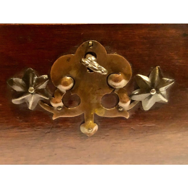 1900 - 1909 Antique Turn of the Century German Walnut Box For Sale - Image 5 of 10