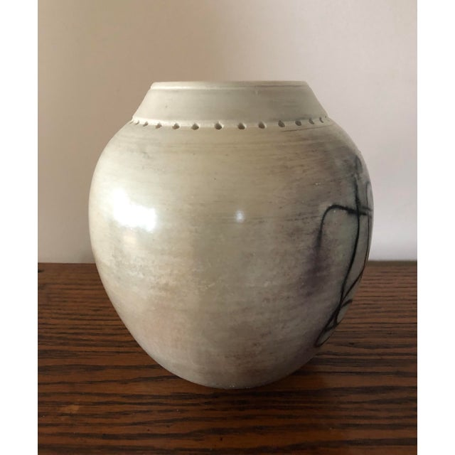 Final Price! Ceramic Signed Pottery Vase For Sale - Image 4 of 8