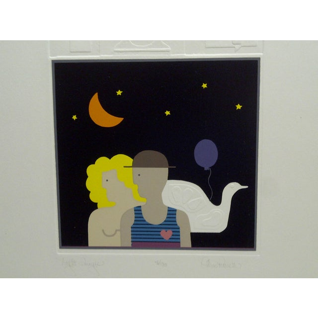 "Late 20th Century 20th Century Silkscreen Print ""Night Images"" by Christina Parrett For Sale - Image 5 of 9"