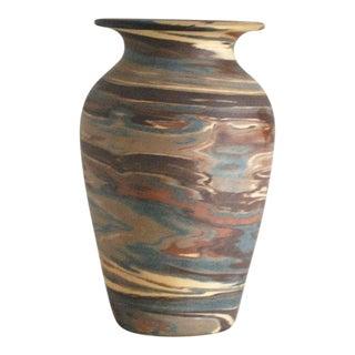Antique Niloak Pottery Mission Swirl Vase For Sale