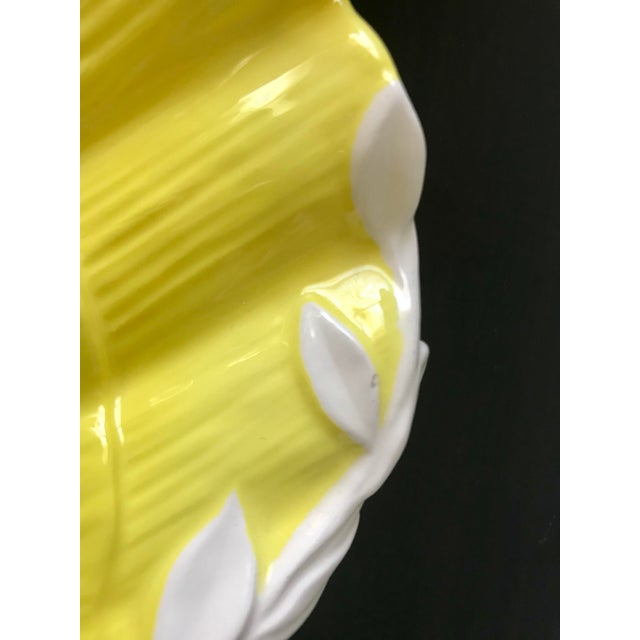 1980s Vintage Fitz & Floyd Yellow & White Seashell Dish For Sale - Image 11 of 12