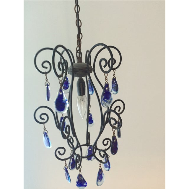 Blue Murano Teardrop Pendant - Image 5 of 5