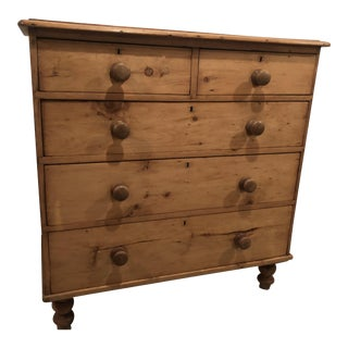 19th Century English Traditional Pine Chest of Drawers