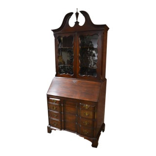 Vintage Mahogany Regency Style Secretary Desk For Sale