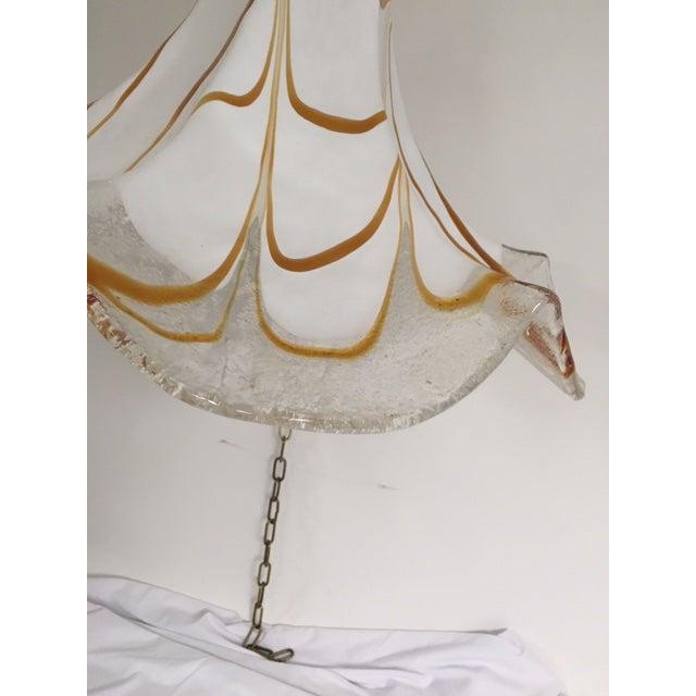 Handkerchief Style Murano Single Pendant Light by Fazzoletto For Sale - Image 11 of 12