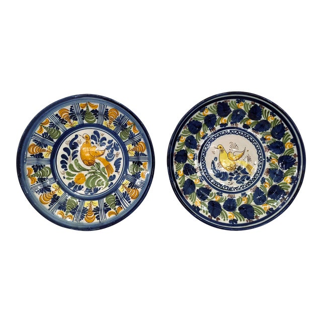 Pair Antique French Faience Chargers, Circa 1890-1910. For Sale