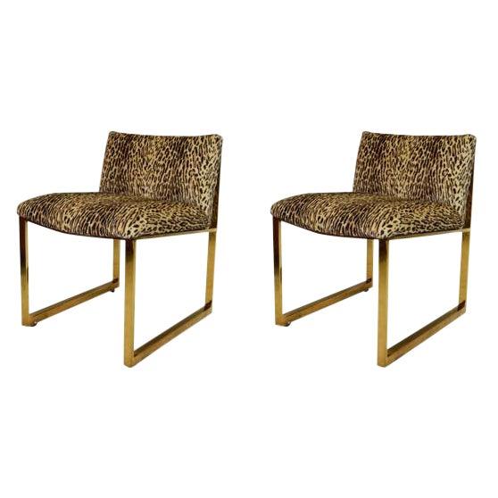 Milo Baughman Slipper Chairs - A Pair For Sale