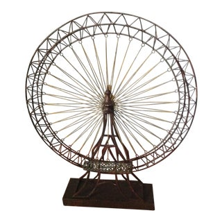 Ferris Wheel Brutalist Metal Art Sculpture For Sale