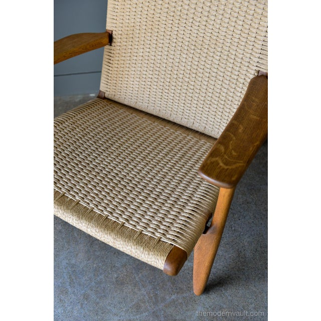 1950s Vintage Hans Wegner for Carl Hansen & Son Ch 25 Lounge Chair For Sale - Image 9 of 12