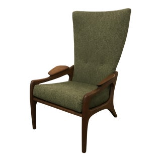 Mid-Century Modern Adrian Pearsall Tall Lounge Chair For Sale